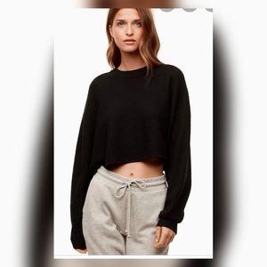 Aritzia Wilfred free Lolan crop sweater.